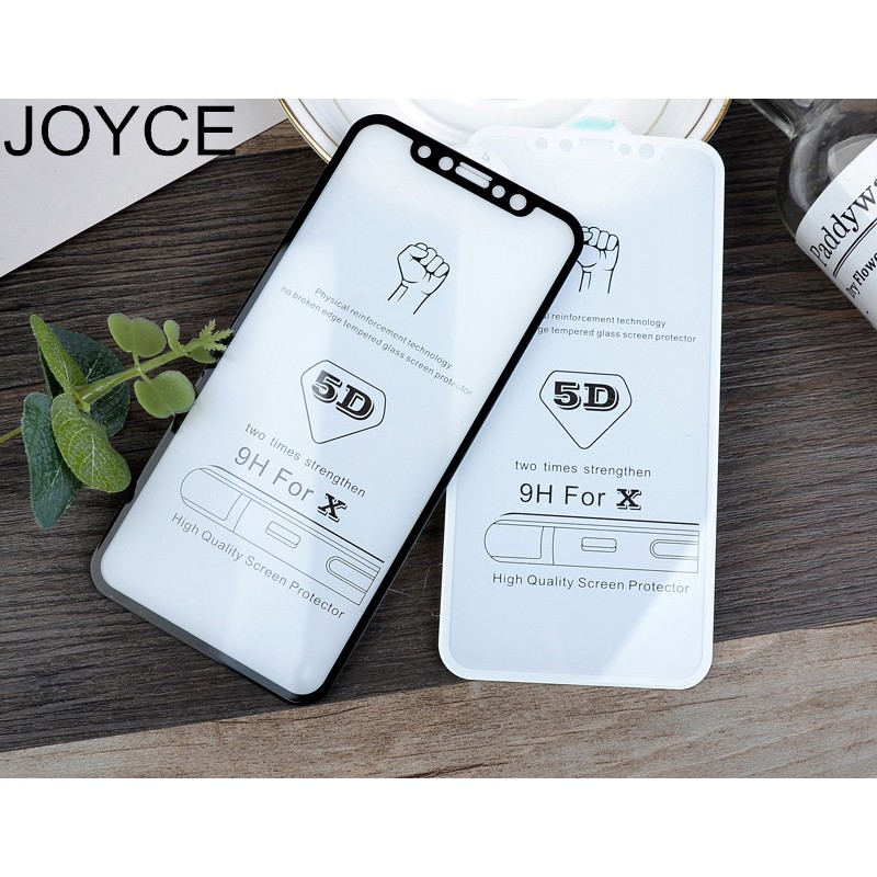JOYCE 5D Screen Protect Tamper Glass Free Shipping For iPhone 6 7 8  XR X MAX Protective Film Protector