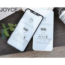 JOYCE 5D Screen Protect Tamper Glass Free Shipping For iPhone 6 7 8  XR X  MAX Protective Film Screen Protector  Tamper Glass цена 2017