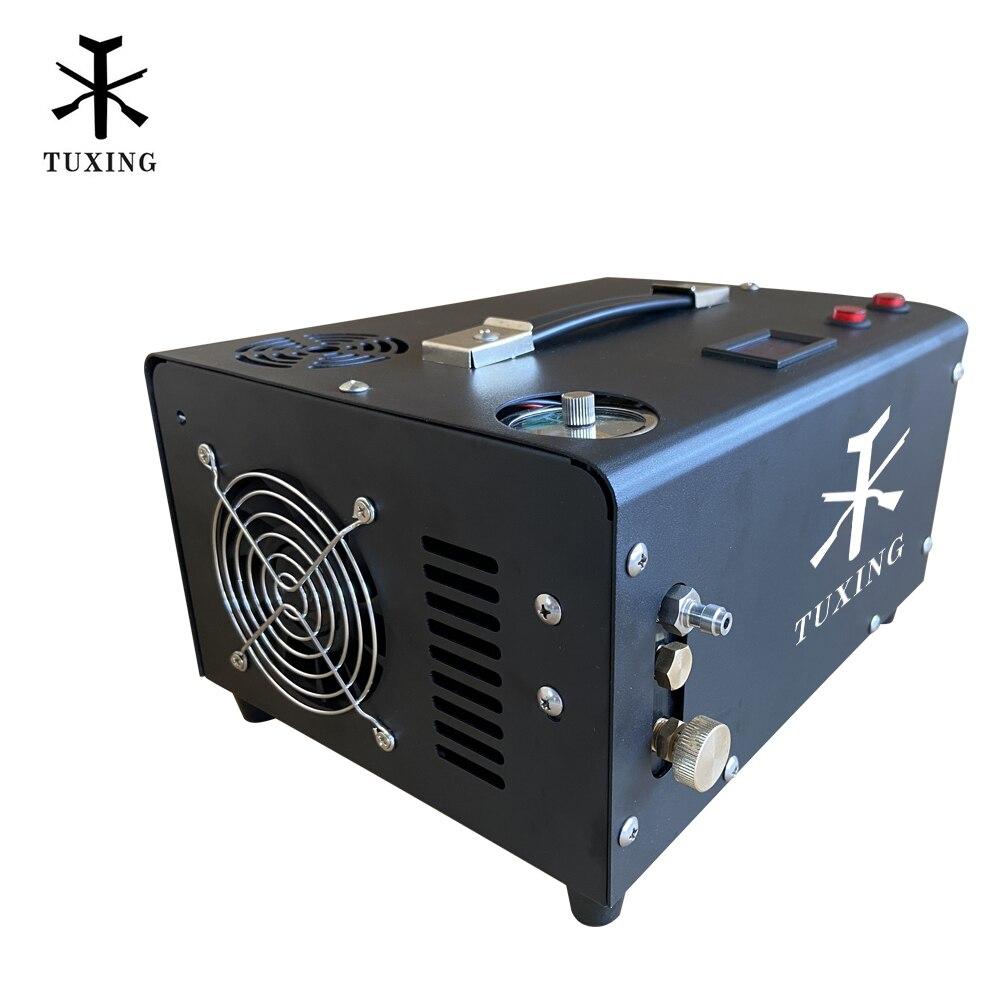 TXET061 4500psi 300bar PCP sprężarka powietrza pompa wysokociśnieniowa sprężarka do pneumatycznego wiatrówki karabin Inflator 12V/220V/110V|Pompy|   -