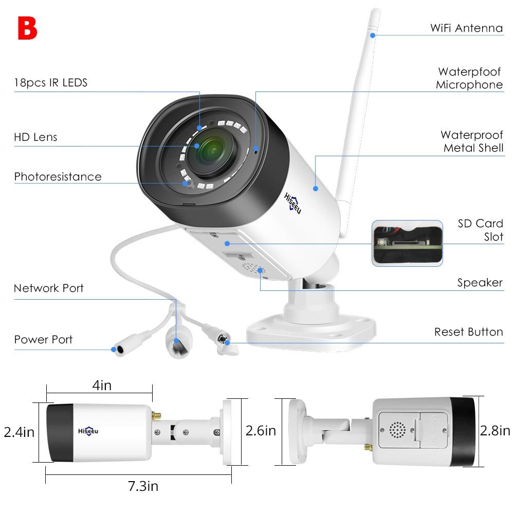 Hiseeu HB312 WIFI Camera Waterproof