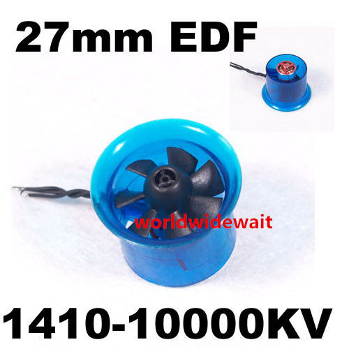 New HL2708 1410 10000KV Motor EDF 27mm Ducted Fan for RC Aircraft Airplane