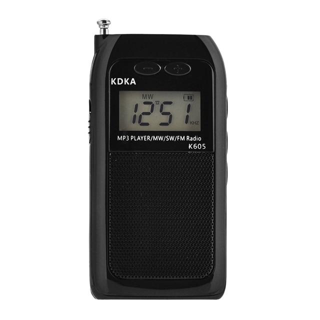 K605 Mini Pocket Radio Fm Am Sw Mw Digital Tuning Radio Receiver Mp3 Music Player Medium Wave / Short Wave / Fm Stereo Radio