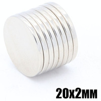 100 Pcs 20X2 Mm Super Powerful Magnetic Sheets Disc 20Mm X 2Mm Strong Round Magnets N35 NdFeB Lot Neodymium Magnets Sheet