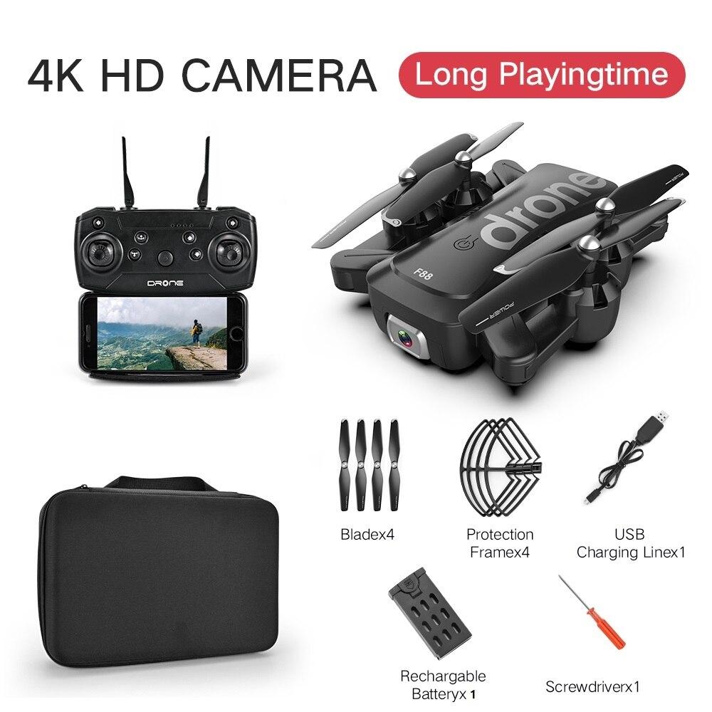 LANSENXI 2020 new RC drone F88 HD 4K 1080P dual camera WiFi FPV, RC four-rotor drone boy toy gift