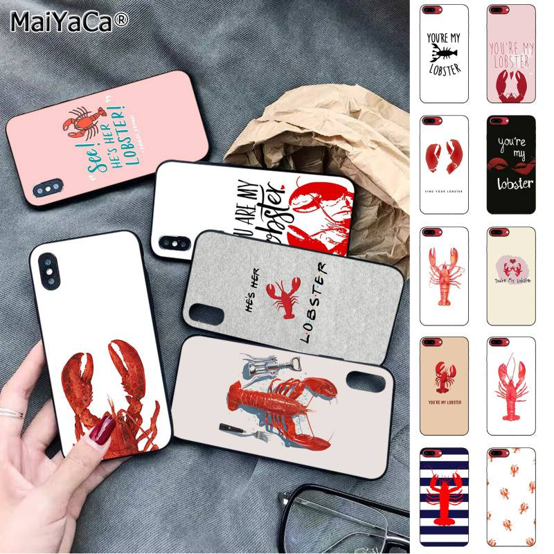 MaiYaCa FRIENDS TV Show Youre My Lobster Cute Smart Soft Shell Phone Case for iPhone 11 pro XS MAX 8 7 6 6S Plus X 5 5S SE XR image