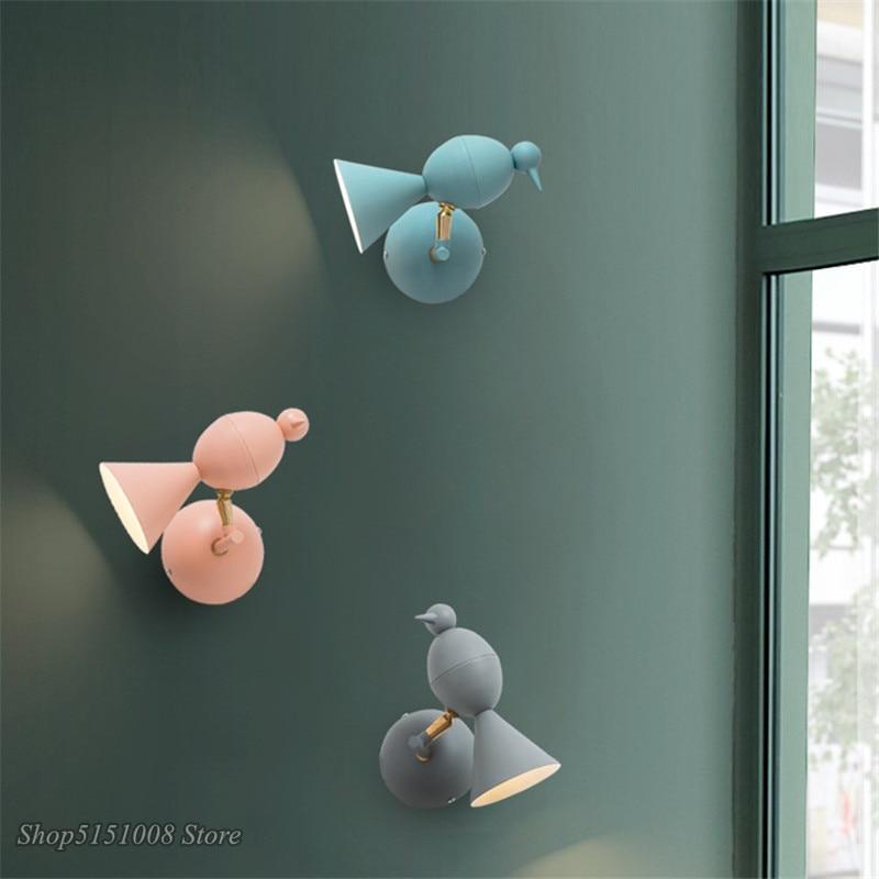 Bird Lamp Bedroom Wall Light Adjustable Sconce Wall Lights Children's Room Kids Lamp Droplight Fixtures Living Room Decoration