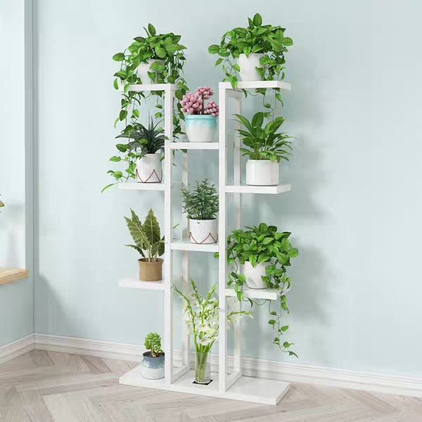 Multi-layer Living Room Balcony Flower Pot Shelf Flower Shelf Home Multi-storey Indoor Space Wrought Iron Flower Stand