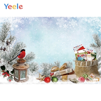 Yeele Christmas Tree Backdrop Snow Latern Toy Gift Baby Props photography Photographic background For Baby Photo Shoot Photocall image