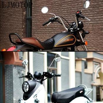 Uniwersalny okrągły widok z tyłu motocykla lustro 8mm 10mm lusterko wsteczne boczne dla Ducati HYPERMOTARD 796 MONSTER S2R 800 tanie i dobre opinie LJMOTOP Motorcycle Mirrors CNC machined T-6063 Aluminum 0 55kg Side Mirrors Accessories 1 pair 8MM 10MM most motorcycle