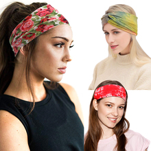 4 Styles Womens Headpiece Stretch Wide Headwrap Hair Bands Elastic Headband Sports Running Bandage Yoga Fitness Turban Headwear