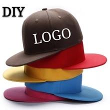 Custom Baseball Cap DIY Logo Flat Hip-hop Child&Adult Printing Embroidery Brand Sport Bucket Hat High-quality Snapback