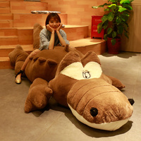 Crocodile Huge Stuffed Animals Plush Toy Cartoon Large Cute Sleeping Long Pillow Cushion Christmas Birthday Girl Gift AA60MR