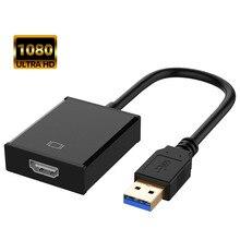 1080P USB 3.0 zu HDMI Adapter Externe Video Karte Multi Monitor Audio Video Converter Kabel für Windows 7/8/ 10 Laptop