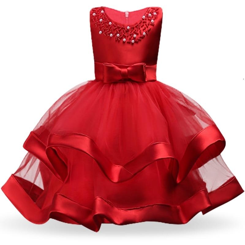 Girls Dress Elegant New Year Princess Children Party Dress Wedding Gown Kids Dresses for Girls Birthday Party Dress Vestido Wear 19