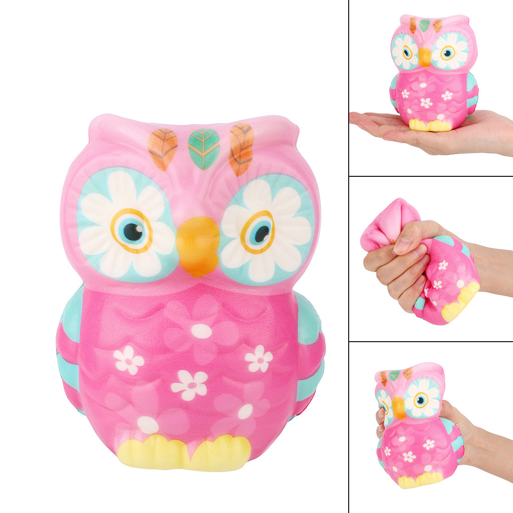 Jumbo Kawaii Owl Squishies Slow Rising Cream Scented Antistress Squeeze Toys Giant Animal Bird Stress Relief Toy For Kids Gift