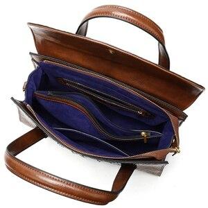Image 5 - WESTAL กระเป๋าผู้หญิงของแท้หนังจระเข้สตรีกระเป๋าหนัง messenger/กระเป๋าไหล่ใหญ่ handle top กระเป๋า