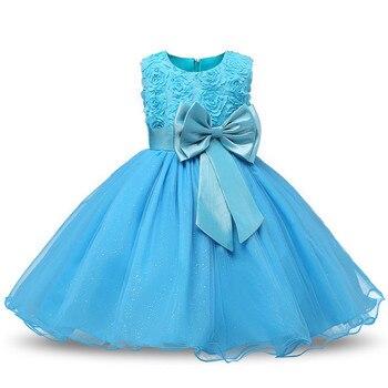 Princess Flower Girl Dress Summer Tutu Wedding Birthday Party Kids Dresses For Girls Children's Costume Teenager Prom Designs 4