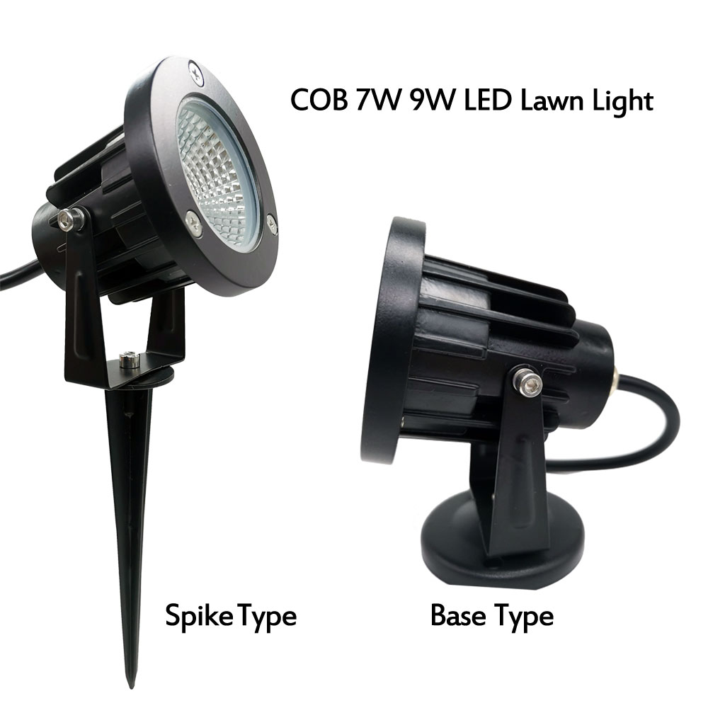 COB 3W 5W 7W 9W AC110V 220V LED Lawn Lamp DC12V Yard Light Outdoor Path Lights IP65 Spot Light For Garden Decoration