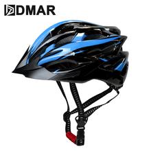 DMAR Ultralight rowerowy kask rowerowy EPS + osłona z poliwęglanu MTB kask rowerowy kolarstwo integralnie formowany kask kolarstwo bezpiecznie Cap tanie tanio (Dorośli) mężczyzn 19082403 200g 20 Integrally-molded Helmet PC+EPS M 55-59cm L 58-61cm M 16-17cm L 16-18cm Men Women