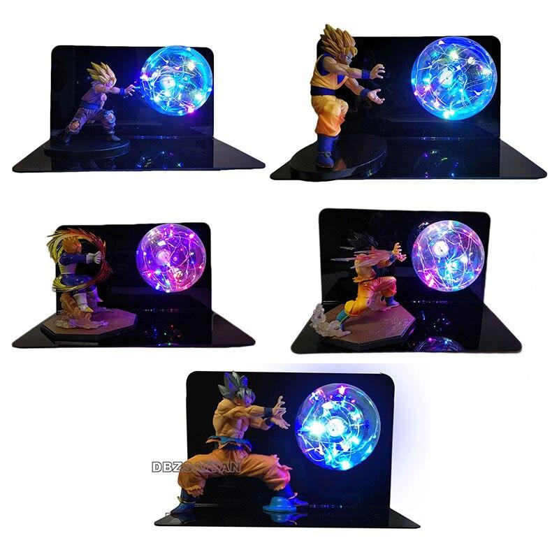 Image 2 - Dragon Ball Super Goku Vegeta Gogeta Figuras LED Light Dragon Ball Lamp Ultra Instinct Goku Bedroom Decorative Night Light Gifts-in Action & Toy Figures from Toys & Hobbies