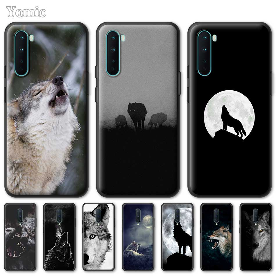 Silicone Phone Case For OnePlus Z 8 Nord 6T 6 7 7T Pro 5G Black Soft Coque Angry Snow Wolf TPU Cover Shell