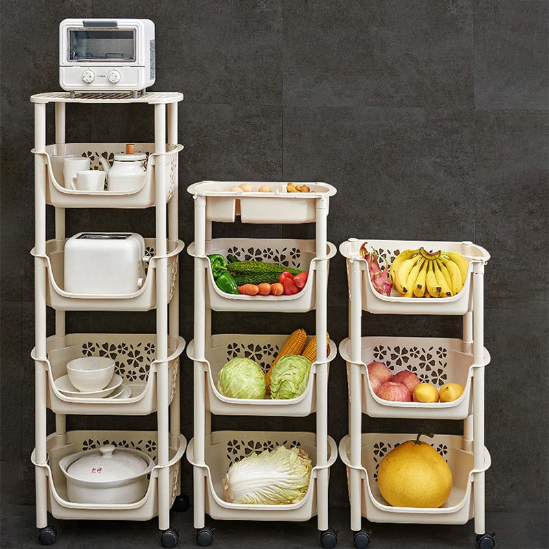 Multifunction Cart 304 Stainless Steel Kitchen Vegetable Fruit Basket Rack Floor Multi Layer Fruits and Vegetables Storage Shelf