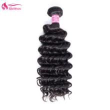 Remy-Hair Weft Weave Bundles Waves Double-Machine Nature-Color Deep-More 100%Human-Hair