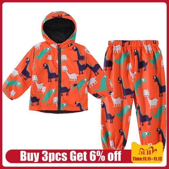 ילדי בגדים 2020 סתיו חורף בני בגדי דינוזאור מעיל + מכנסיים תלבושת ילדים בגדי ילד חליפת ספורט בני בגדים סטים