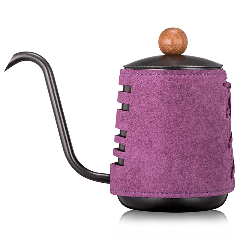 Stainless Steel Handleless Anti-Hot Coffee Pot Drip Kettle 0.3L/0.55L Coffee Maker with Gooseneck Spout Coffee Tea Pot