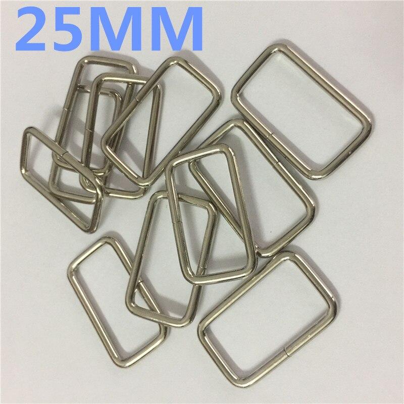 Anneaux rectangle 25 mm boucle lot de 10
