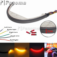 For Suzuki Boulevard M109R M90 Switchback Flowing Red Brake Taillights Amber Turn Signal Light Sequential Fender Light Bar 06 UP