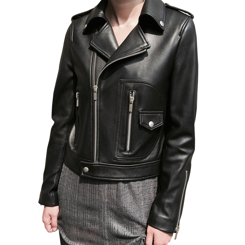 Women Leather Jacket Spring 2020 New Arrival Real Sheepskin Coats Ladies Classic Genuine Leather Jacket