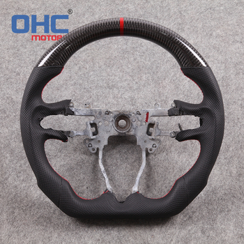 100% Real Carbon Fiber  Steering  Wheel for Honda Fit Jazz Civic City