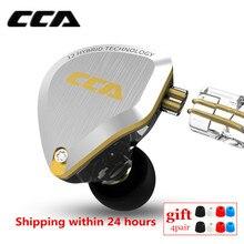 CCA auriculares intrauditivos híbridos C12 5BA 1DD, auriculares metálicos con Monitor de auriculares con graves HIFI, cancelación de ruido, ZSX C16 V90 BA5 T4