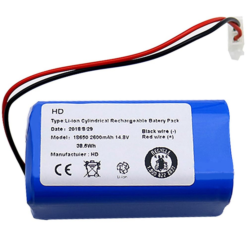 Rechargeable For Ilife Ecovacs Battery 14.8V 2600Mah Robotic Vacuum Cleaner Accessories Parts For Chuwi Ilife A4 A4S A6