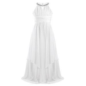 Image 3 - Iiniim ילדים נסיכת שמלת בנות ילדים שיפון Weeding שמלת נצנצים הלטר פרח שמלת ילדה Vestidos מסיבת תחפושות Teen