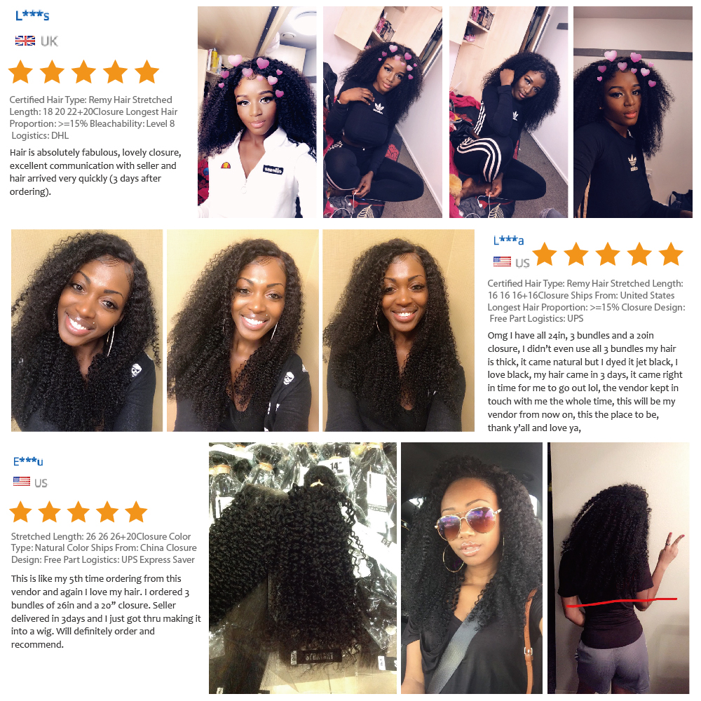 Afro Kinky Curly Bundles With Closure    Bundles With Closure   Bundles With Closure 3