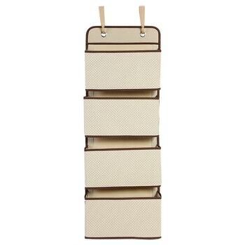 Bolsa de almacenamiento trasero de tela no tejida para colgar en la puerta, armario multifunción, organizador de 4 rejillas, organizador de armario, Porta champú