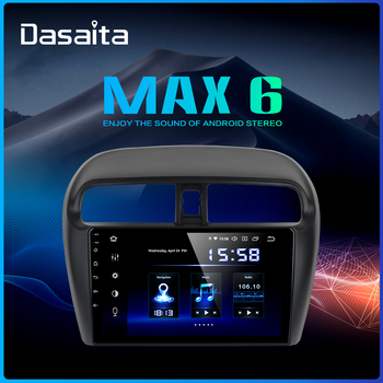 """Dasaita Android 9.0 Car Stereo 1 din for Mitsubishi Mirage GT G4  9"""" Multi Touch Screen radio GPS MP3 USB HDMI Output 64G ROM"""