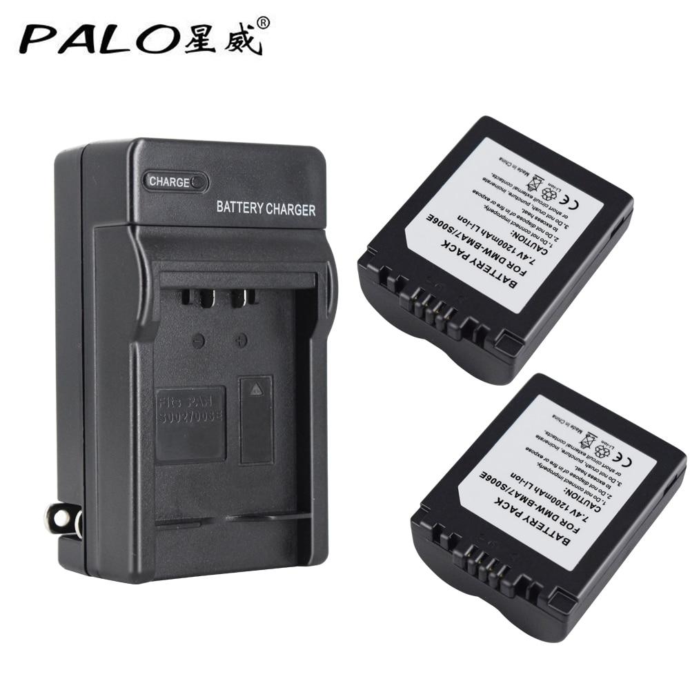 Batería//Cargador para Panasonic CGA-S006 CGA-S006A//1B DMW-BMA7 DMC-FZ50 FZ30 FZ28