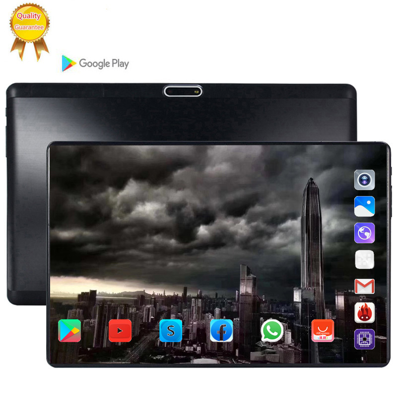 128G MID Global Bluetooth Wifi Phablet Android 9.0 10.1 Inch Tablet Octa Core 6GB RAM 128GB ROM Dual SIM Card 2.5D Tablet 64gb