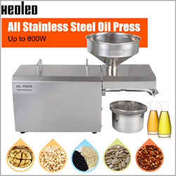 XEOLEO Oil press machine Commercial Oil presser 304# Stainless steel Peanut/Rapeseed/Walnut/Almond Processor 800W 110/220V