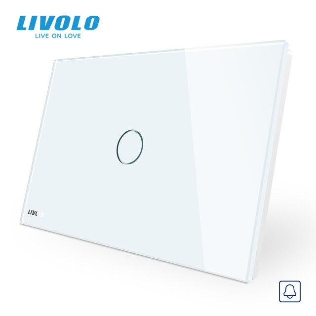 Livolo Muur Schakelaar, Deurbel Ring Switch, Glass Panel, Us Standard Touch Screen Lichtschakelaar, met Led Indicator
