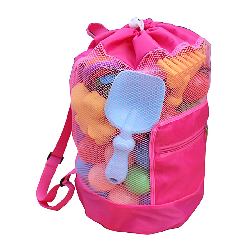 Outdoor Swimming Beach Bag Swimming Bag Foldable Mesh Children Beach Toy Organizer Baskets Storage Backpack For Kids