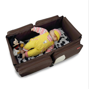 Bolsa de cama portátil plegable para bebé multifuncional para viaje de recién nacido bolsas de mamá para llevar cama nido bolsa de pañales para bebé plegable la cama