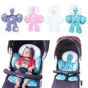 Image 2 - Baby stroller cushion car seat accessories Carriage thermal pad liner children shoulder belt strap cover Neck Protection