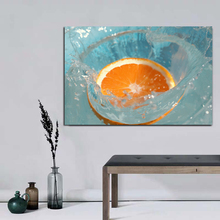 Half An Orange Art In Water Realist Picture Wall Art Canvas Painting