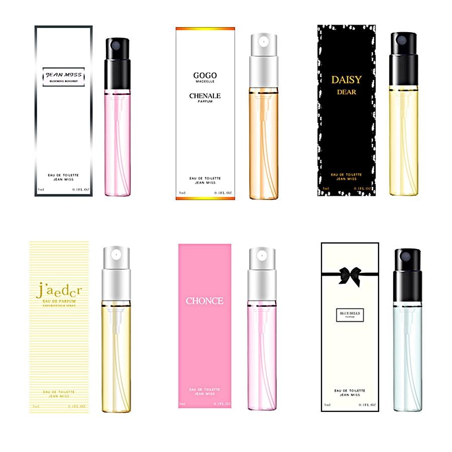 3ml 10Pcs Perfume Women Flower Fruits Fresh Elegant Long Lasting Fragrance Spray Glass Bottle Antiperspirant