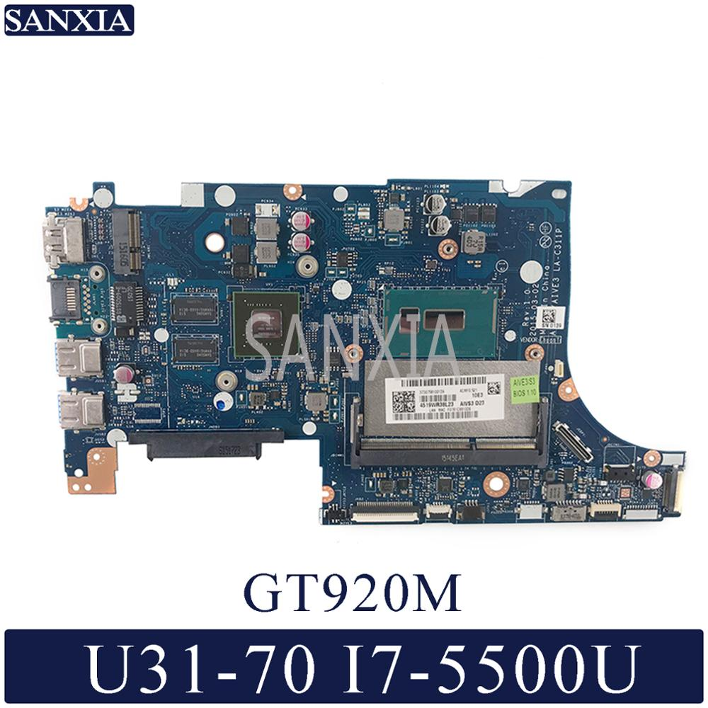 KEFU LA-C311P Laptop Motherboard For Lenovo U31-70 Original Mainboard I7-5500U GT920M