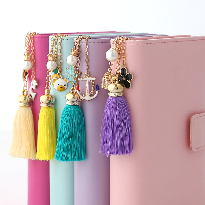 Jamie Notes Creative Fashion Tassel Pendant For Dokibook Filofax Notebook Decoration Loose Planner Accessories For Girls Gift